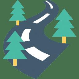 route avec des arbres